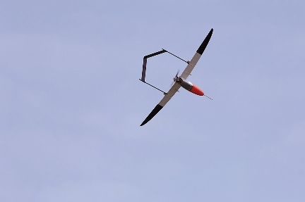 Aerosonde in flight.