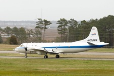 NASA's P-3B Aircraft prepares to depart from Wallops Flight Facility.