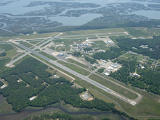 Aerial view of Wallops Flight Facility