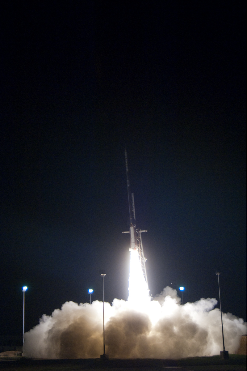 The Black Brant X Rocket launches from Wallops Island