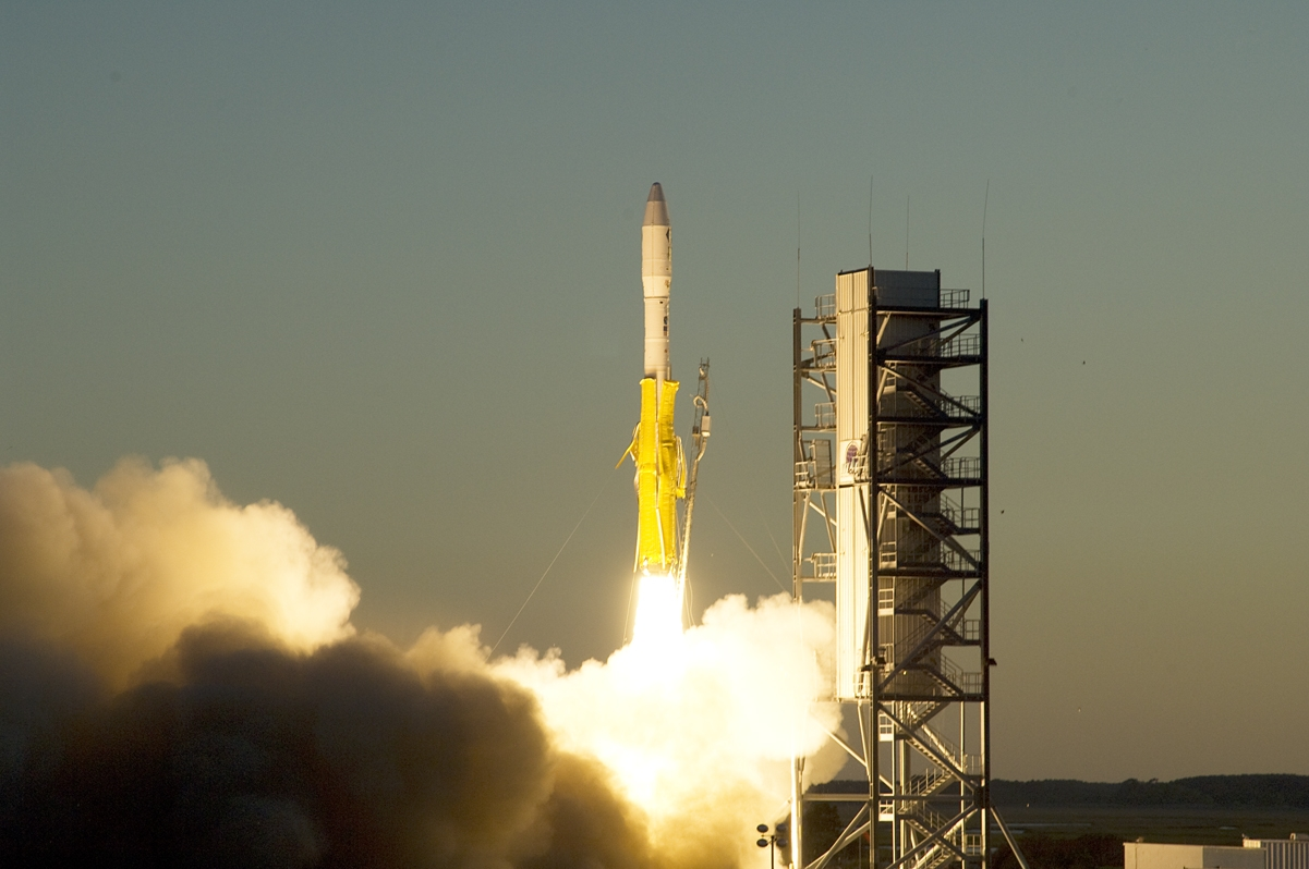 A previous Minotaur I Launch from Wallops Island.