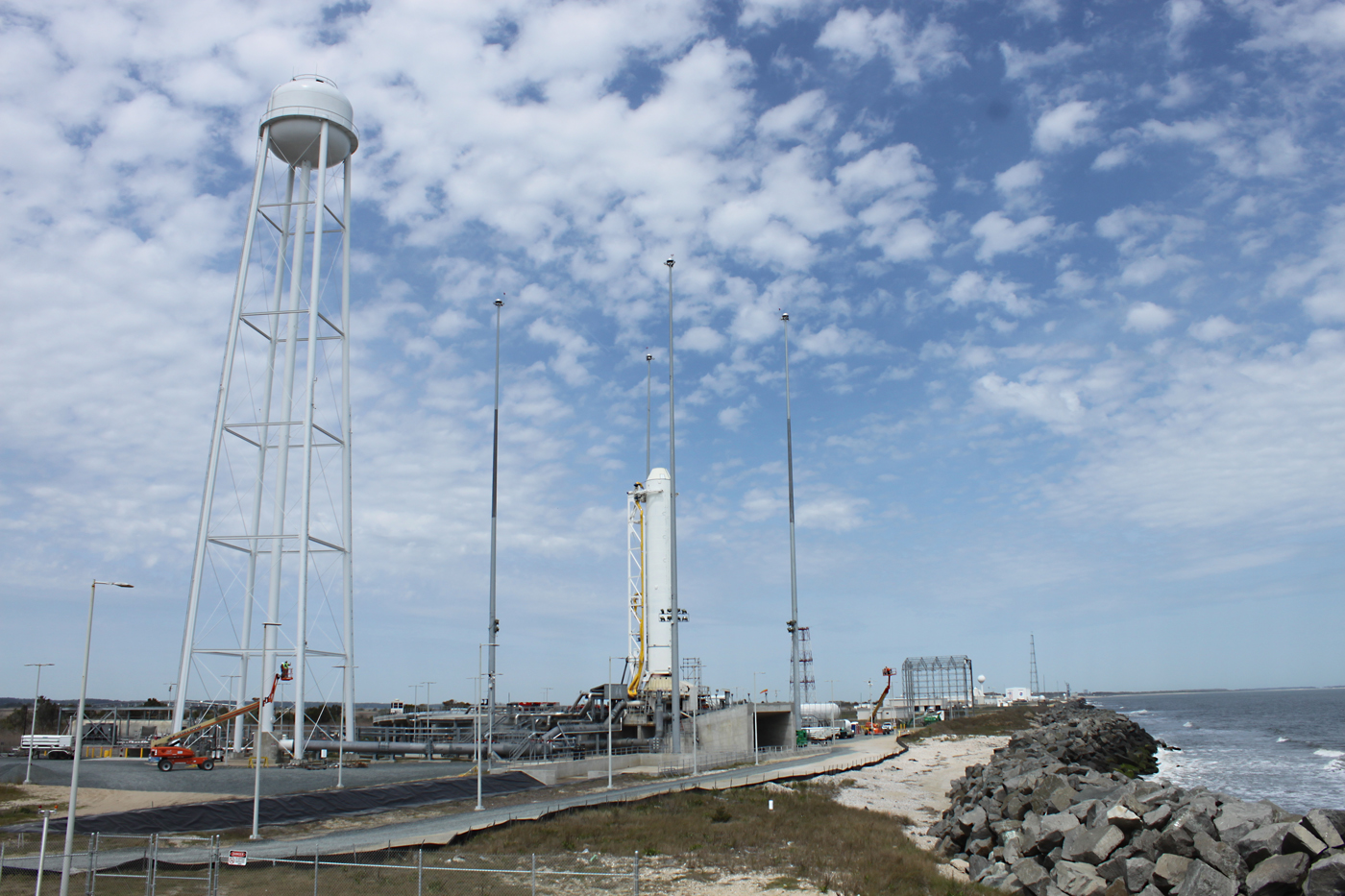 Antares first stage on pad
