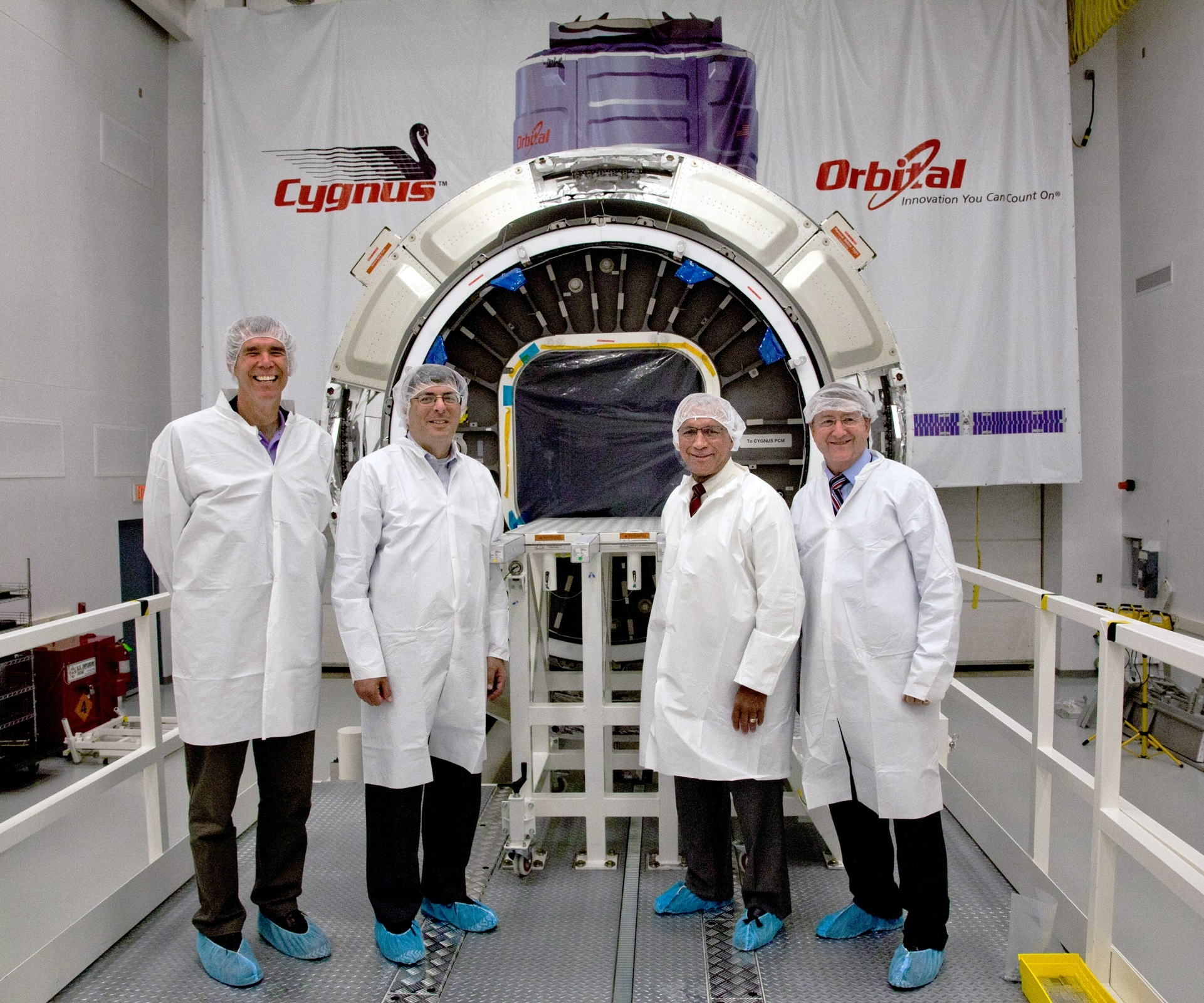 Administrator Charles Bolden Visits Cygnus at Wallops Flight Facility