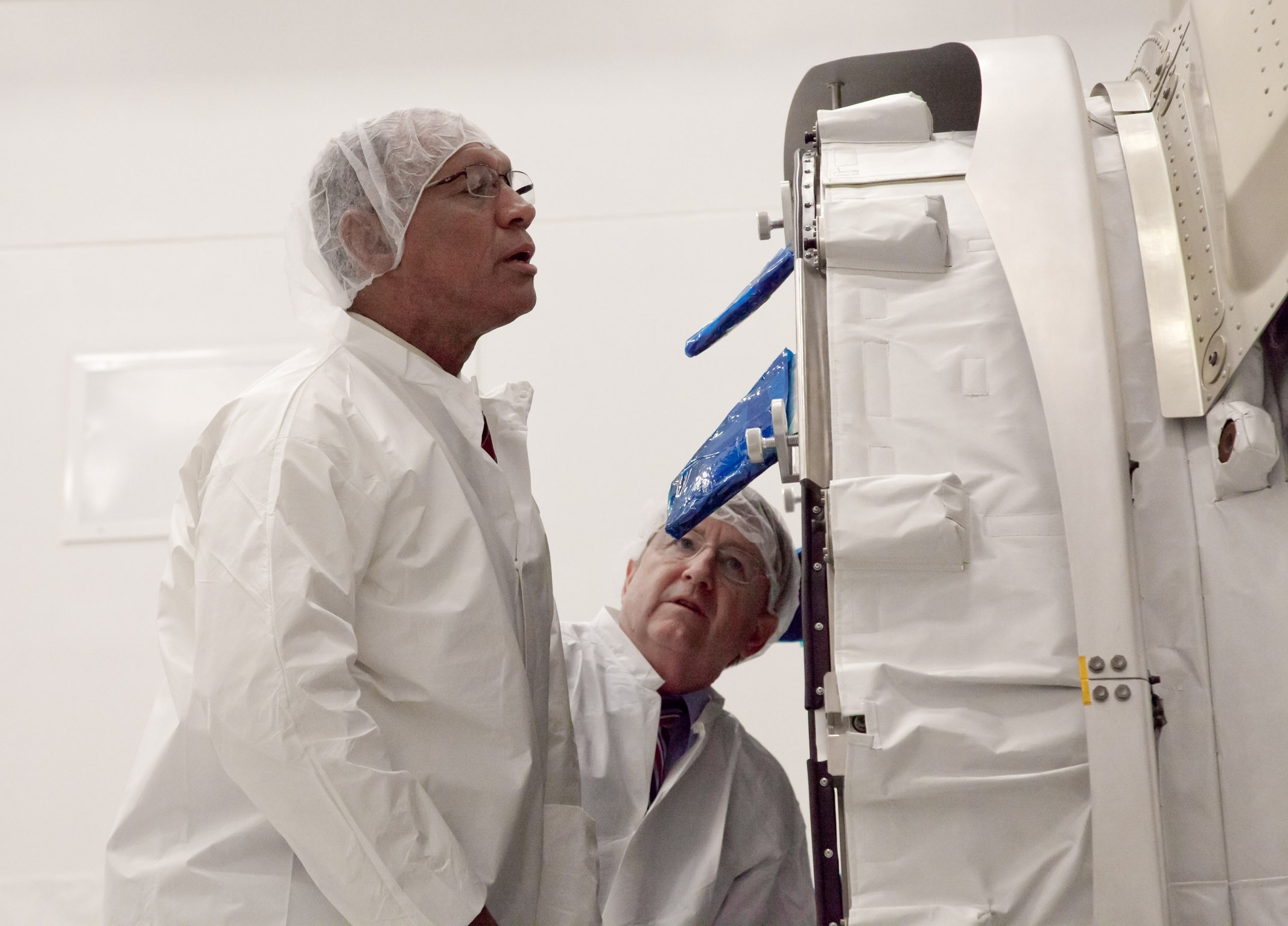 NASA Administrator Charles Bolden Visits Cygnus at Wallops Flight Facility