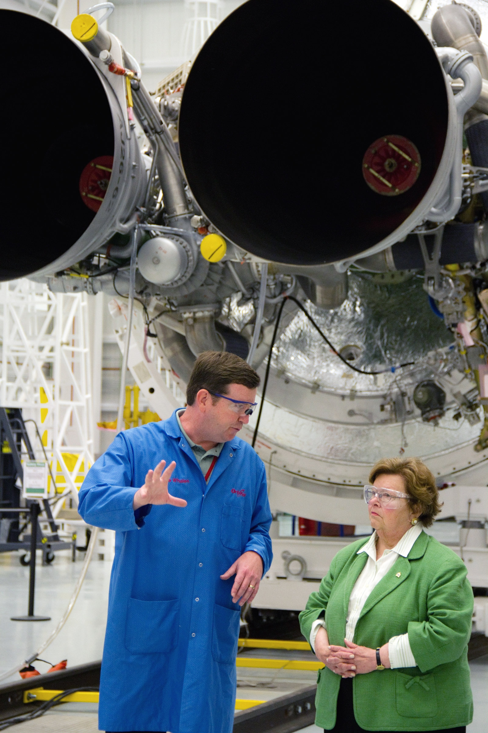 Senator Barbara Mikulski visits Wallops Flight Facility.