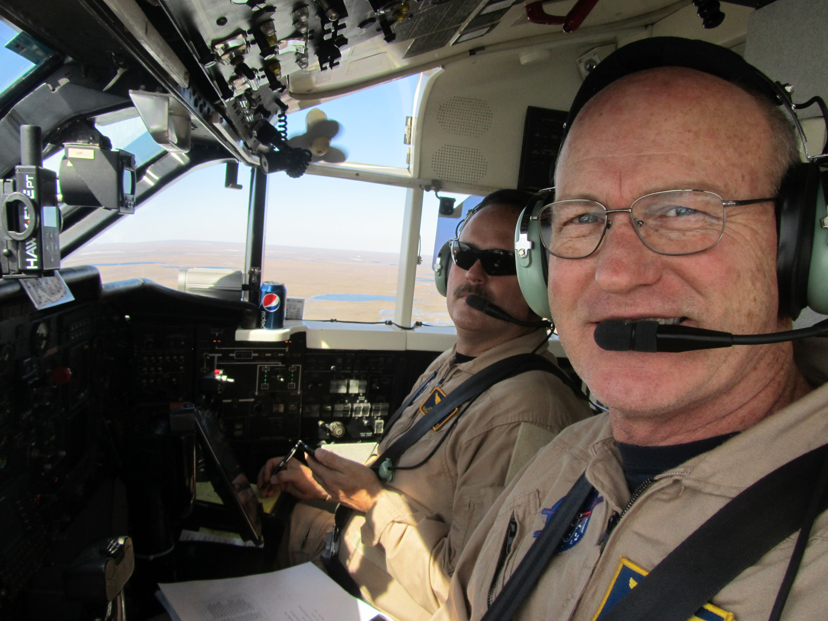 Wallops pilot Rich Rogers over Alaska.