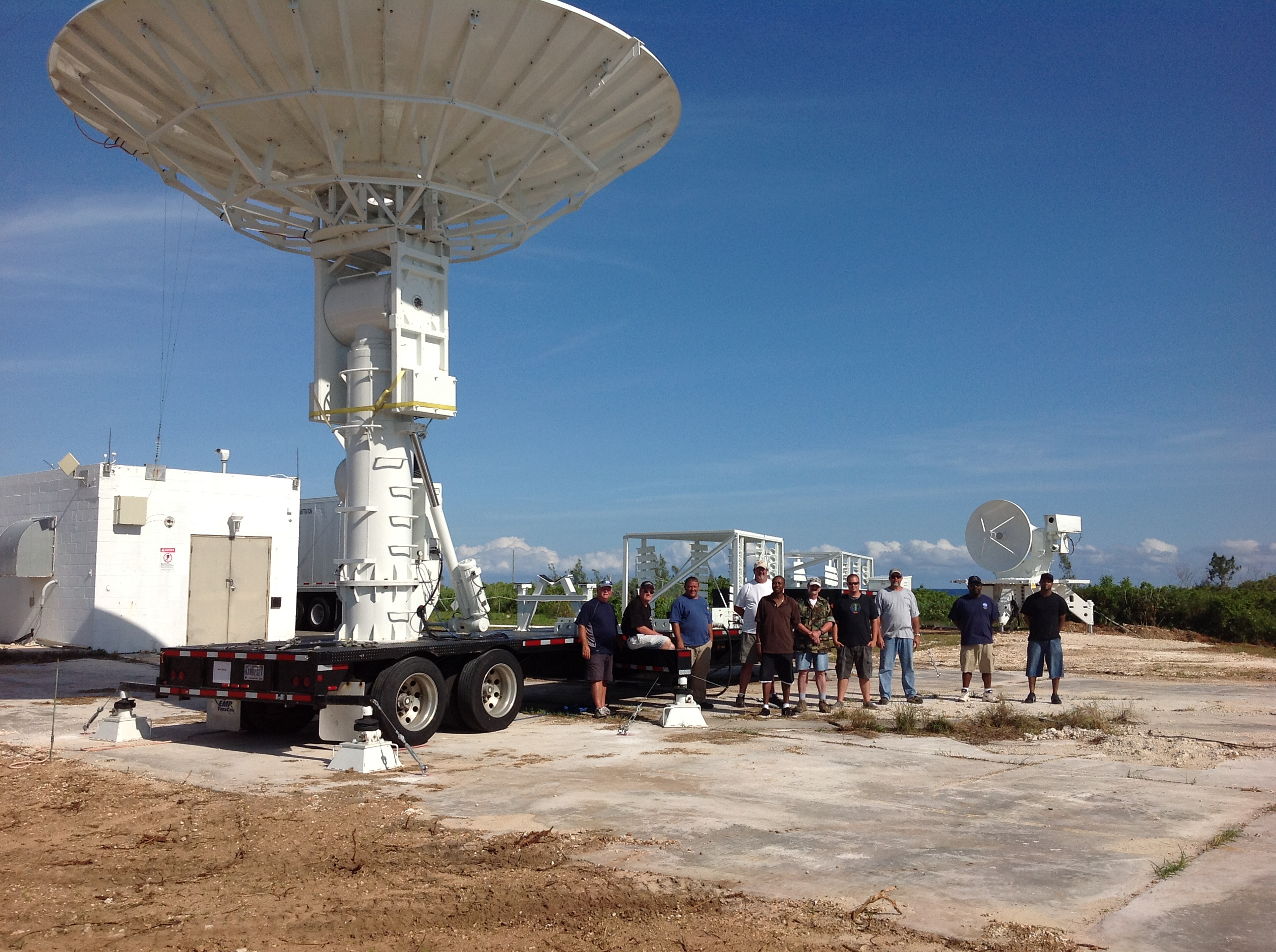 NASA Wallops Flight Facility temporary mobile tracking station deployed in Bermuda.