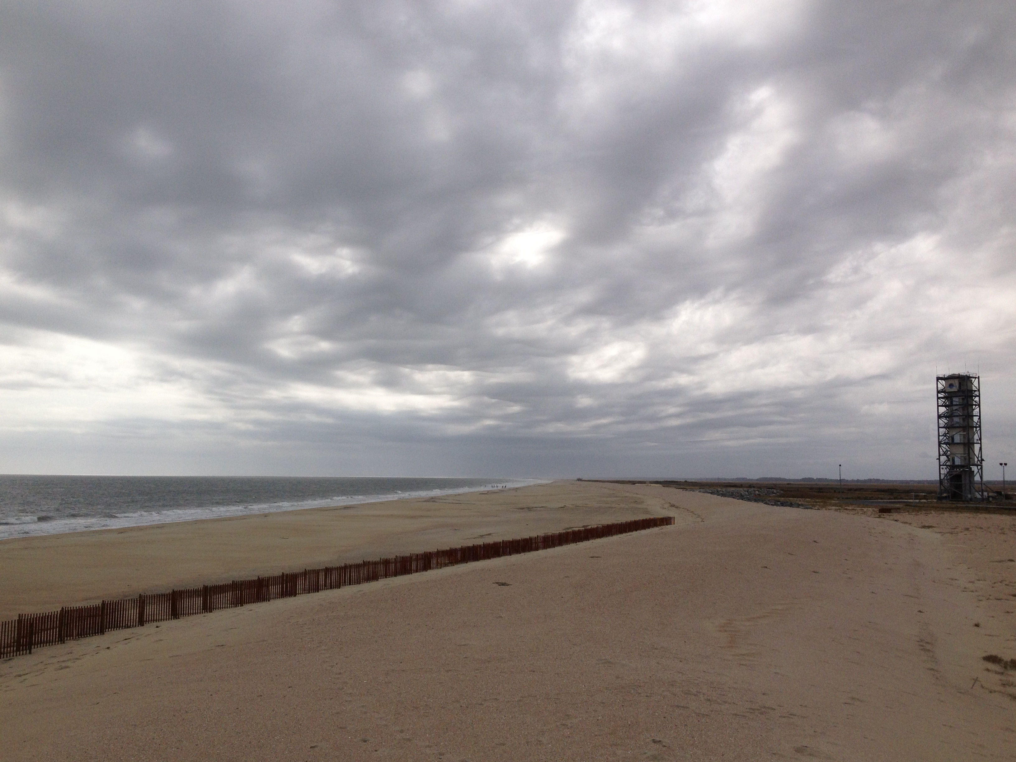 Wallops Beach before Hurricane Sandy.