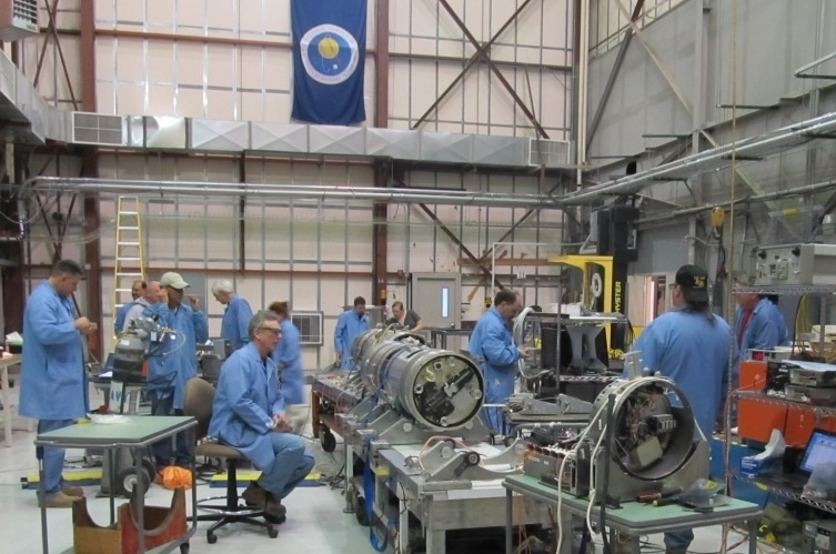The team prepares the Rosanova payload for launch.