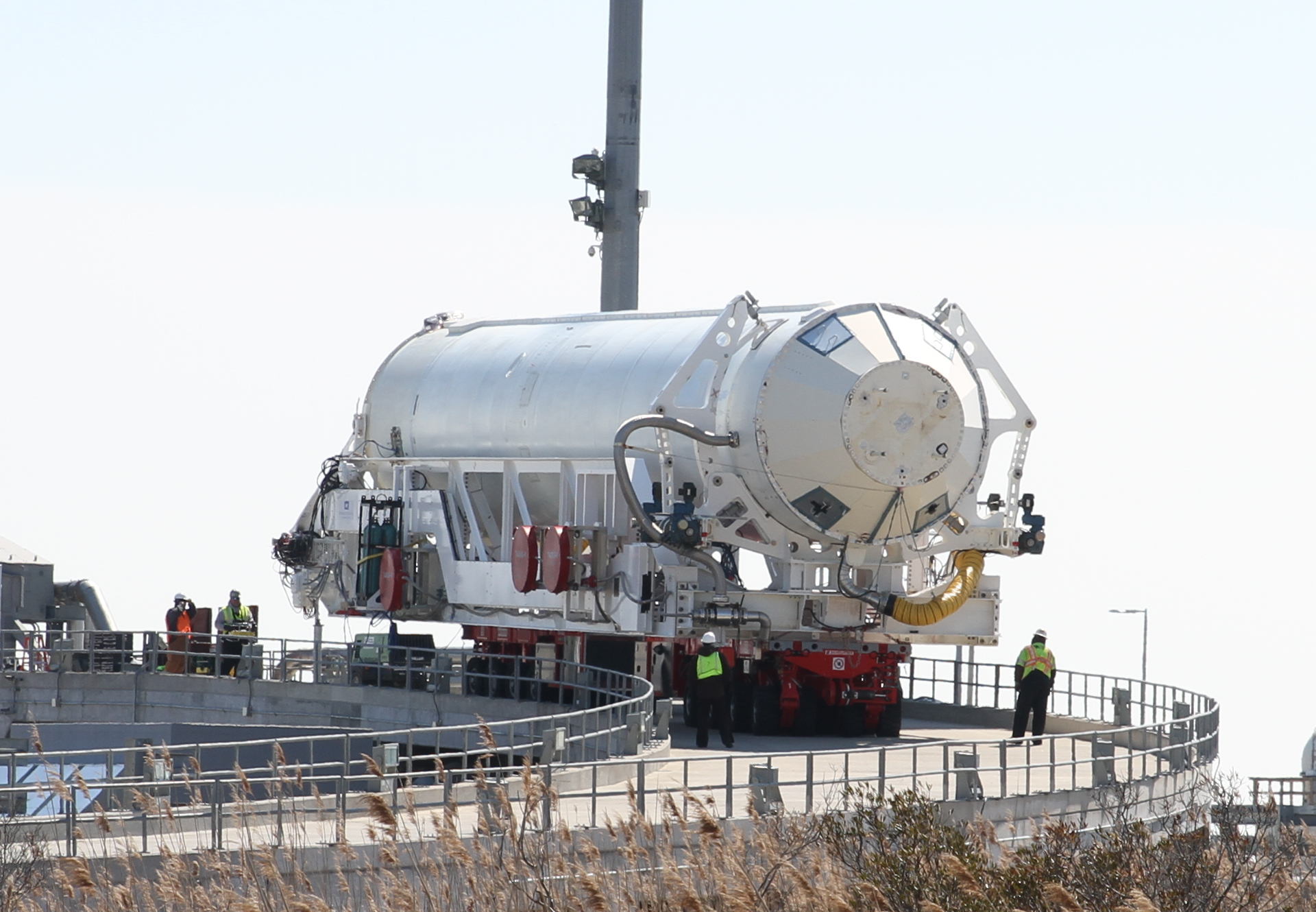 Antares rocket leaving the pad.