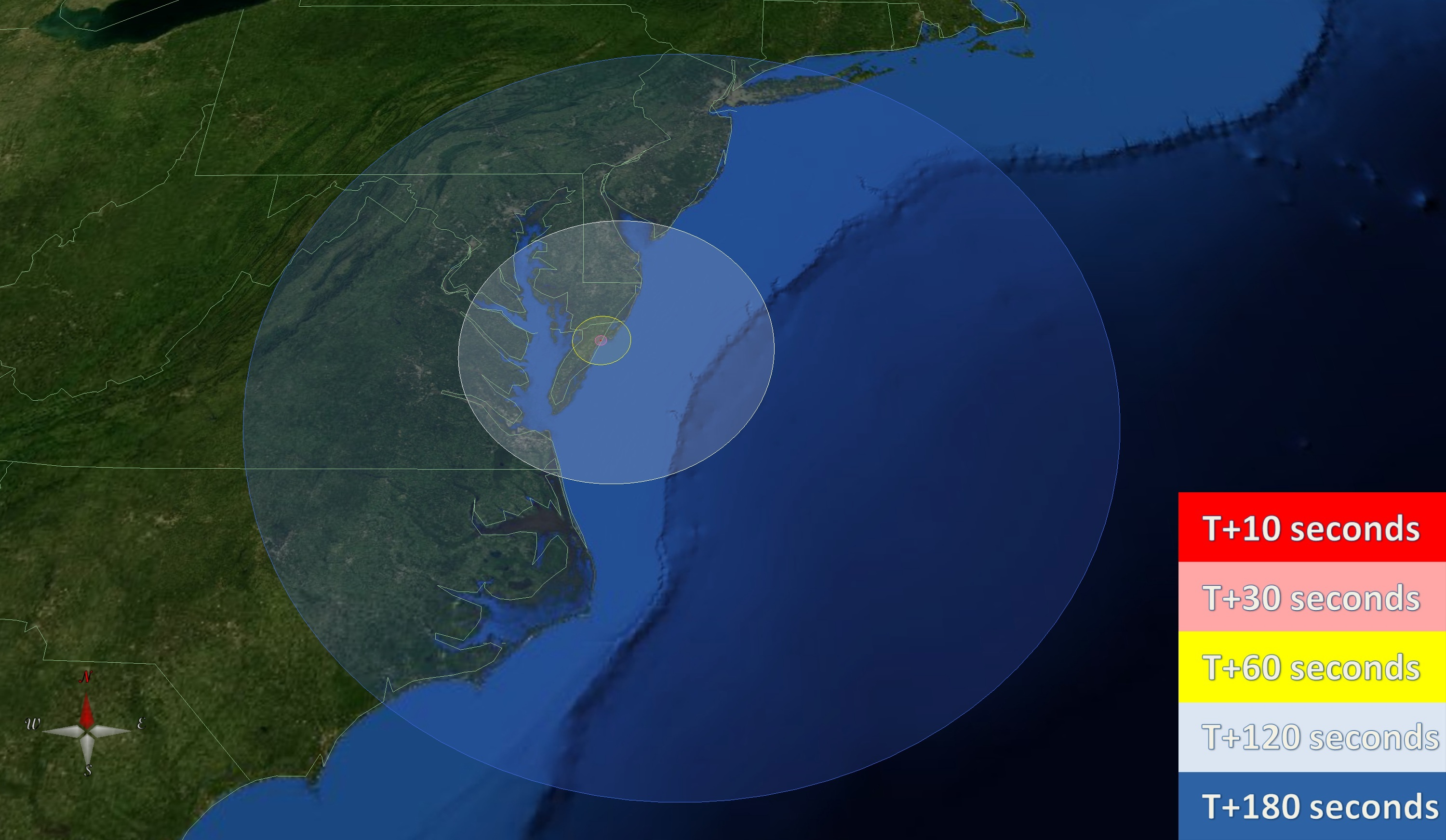 Launch Visibility Map NASA Antares Mission