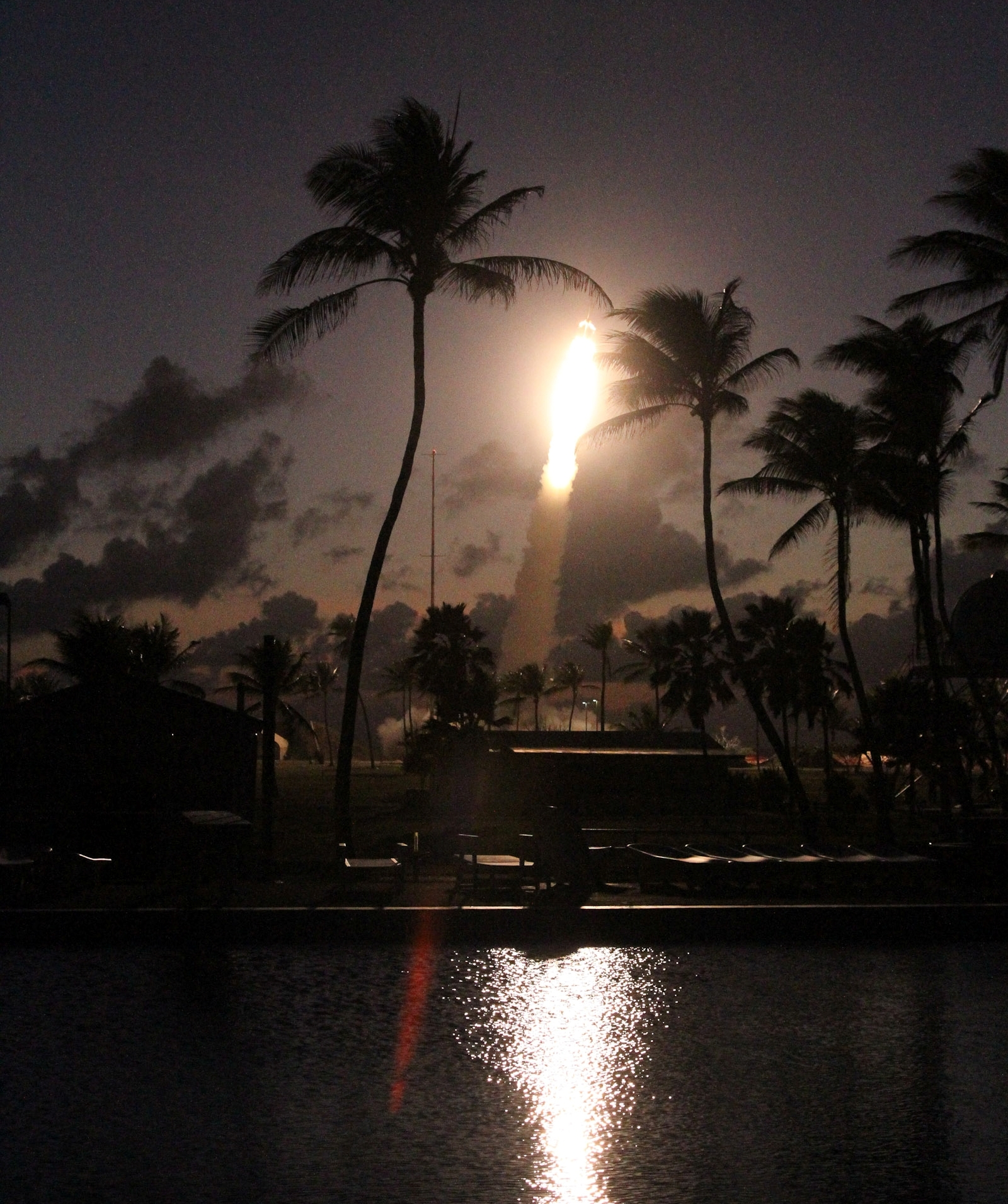 A NASA sounding rocket launches from the Marshall Islands.