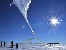 One of 20 balloon launches from Antarctica for the BARREL mission.