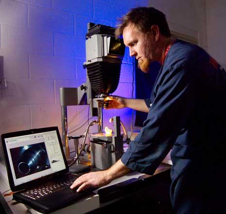 Industrial photographer Reed Elliott captures scientific digital imaging. (wstf1205e09203)