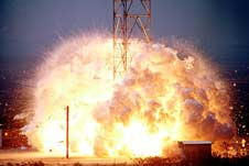 Explosion from Hydrogen/Oxygen Vertical Impact Test<br/>WSTF07096-1947