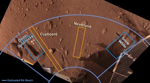 El Área de trabajo de la Fénix. NASA.