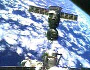 Soyuz TMA-5 after separation from ISS