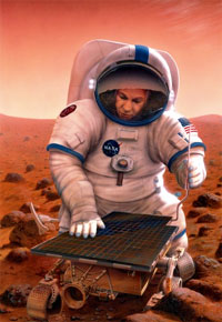 Artist's concept of Mars mission