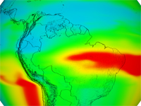 Aura Troposhere Ozone Data, South America; print version
