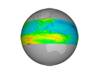 Aura Trophosphere Ozone Data, Indonesia ; print version