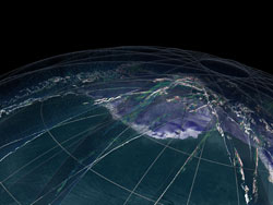 Still from the ICESat clouds animation