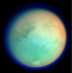Image of Titan, moon of Saturn.