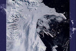 Larsen ice shelf Feb. 23, 2002