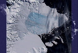 Larsen ice shelf Mar. 5, 2002
