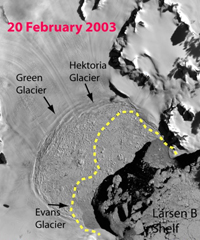 Larsen ice map