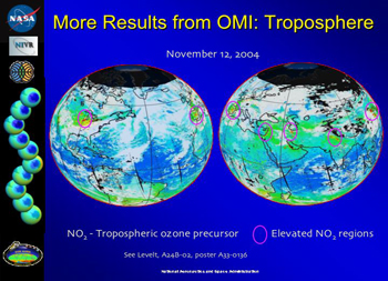 More Results from OMI: Troposphere