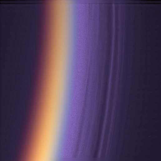ultraviolet image showing haze over Titan