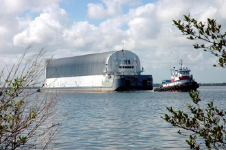 The barge carrying the External Tank