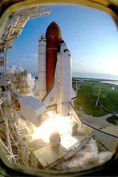 Space Shuttle Discovery liftsoff for STS-51.