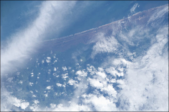ISS010-E-12730: Damaged northwest coastline of Sumatra