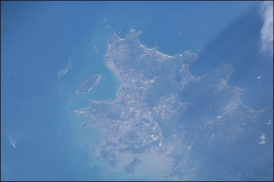 ISS010-E-12736: Island of Phuket in Thailand, post tsunami