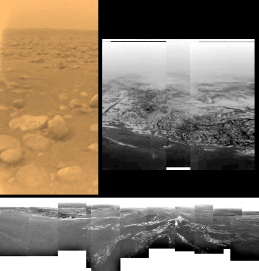 Huygens' images of Titan
