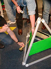 Image showing contestants measuring a tetra