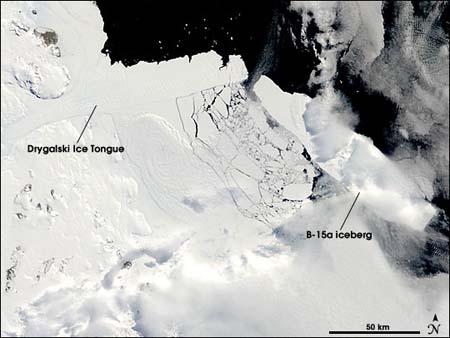 Antartida, lengua de huelo , iceberg