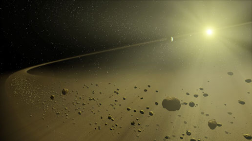 Artist's concept of distant solar system