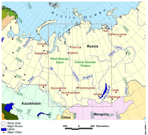 Map of Siberian Study Area
