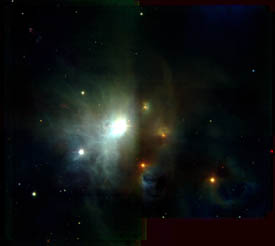 star forming region with X-ray protostar
