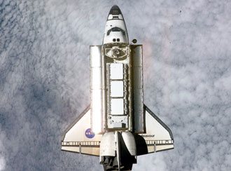 Shuttle Endeavour during STS-113