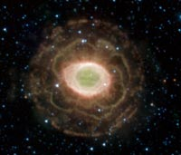 Ring Nebula, which looks flower-like