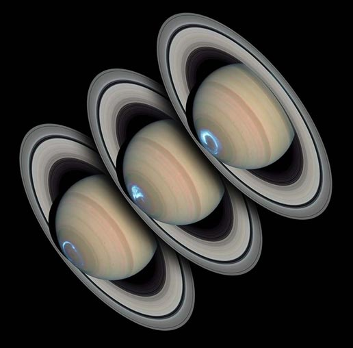 Images of Saturn's polar aurora