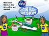Drawing of two kids standing by a Future Flight Design sign and an airplane