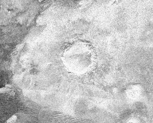 Radar Image of Titan's surface