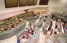 Overhead view of Firing Room 1
