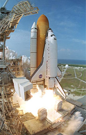 Liftoff of Endeavour on mission STS-111
