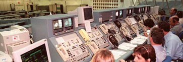 Image of Firing Room during a Space Shuttle launch.