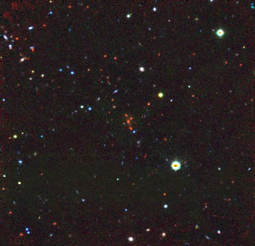 optical image of distant galaxy cluster